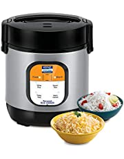 KENT Personal Rice Cooker 0.9-litres 180-Watt (Black and Sil