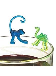 """SUSY CARD Glass Markers""""Animales"""", de plástico - por 1 - bomba soir"""