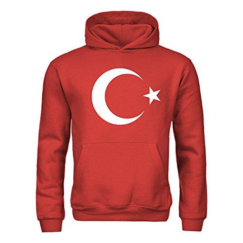 dress-puntos Kinder Kapuzensweatshirt Türkei Mondstern 20drpt15-kh00036-166 Textil red / Motiv weiss Gr. (Kostüme Kinder Türkei)