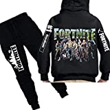 Fortnite Print Boys Clothing set Sweater plus pants 2PCS Outwear Hoodie Size 130cm