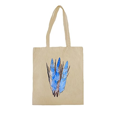 lona-de-algodn-bolsa-de-la-compra-con-three-blue-native-american-feathers-illustration-impresin-38cm
