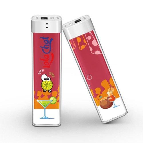 LolaChat Spritz Batteria Esterna Portatile colorata per ragazze, Mini Power Bank con tecnologia di sicurezza