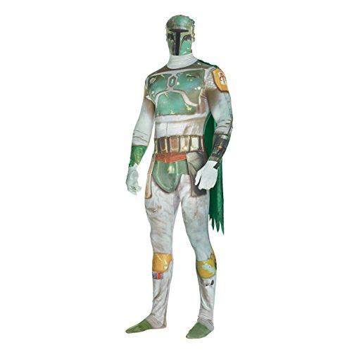 "Morphsuits Traje Digital Oficial de Guerra de Las Galaxias Boba Fett - Tamaño X-Grande 5'10 ""- 6'1"" (176cm-185cm)"