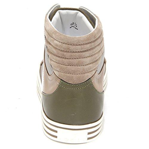 scarpe 7176N tortora sneaker Grigio BASKET beige Verde shoes men uomo REBEL HOGAN qFqBYS