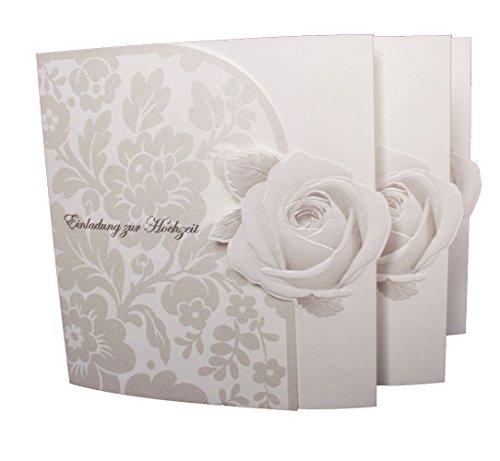 Einladungskarte Hochzeit Edel 20er Pack