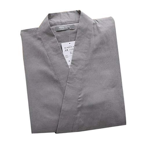 AXIANQI Japonés De Primavera Y Otoño Kimono De Algodón para Hombres De Doble Gasa Pijamas Sección...