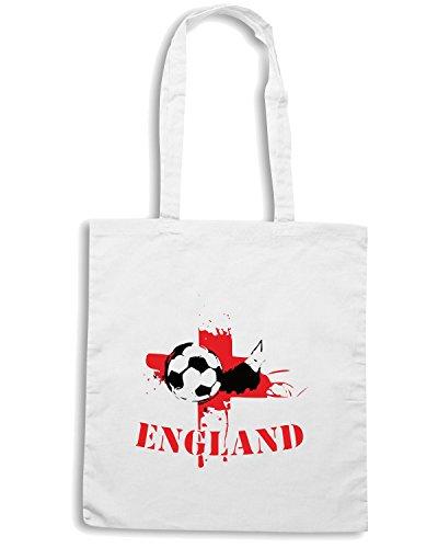 T-Shirtshock - Borsa Shopping WC0075 ENGLAND INGHILTERRA Bianco