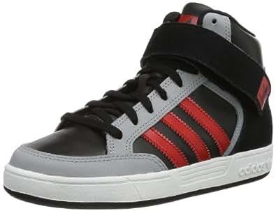 adidas Originals Varial Mid J-4 G98154, Unisex - Kinder Sneaker, Schwarz (BLACK 1/LIGHT SCARLET/MID GREY S14), EU 38 2/3