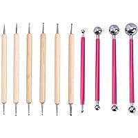 Healifty 10 Stück Metallkugel Stylus Ball Modellierungs Werkzeug Kit (Rosa)