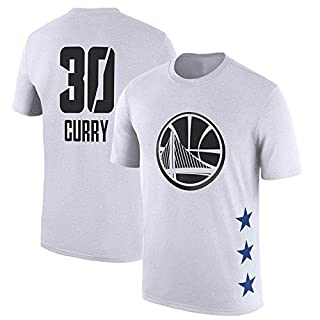 NBA T-Shirt Golden State Warriors Stephen Curry Jugend Männer Sport Und Freizeit Buchstaben Fan Trikots (S-3XL)