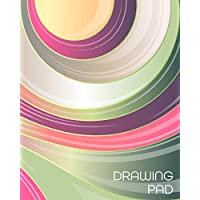 Drawing Pad: 8x10 Girly Swirl Pattern Sketchbook, with 110 pages of Bordered Drawing Paper