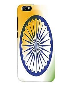 Fuson 3D Printed Indian Flag Designer Back Case Cover for Huawei Honor 4X - D978