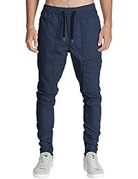 Italy Morn Uomo Casual Chino Cargo Pantaloni Slim Fit Jogging 12 Colori