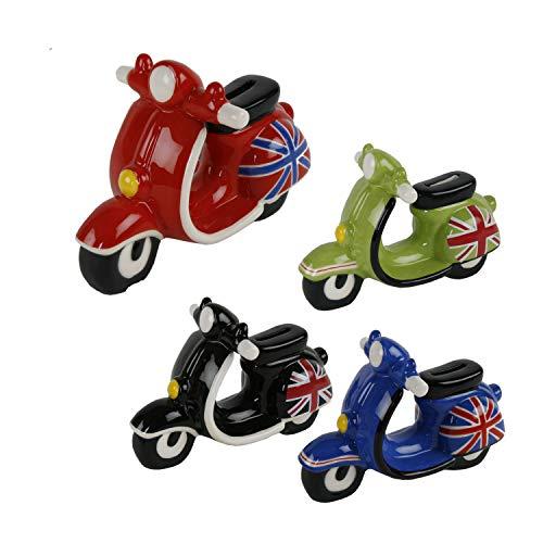 Roomando Spardose Roller Great Britain 4 Verschiedene Modelle mit Gummistöpsel
