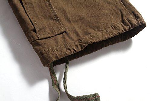 SSLR Herren Sommer Baumwolle Cargoshorts Armeegrün