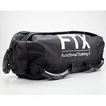 Super Sandbag - Ideal para ejercicios de FUNCTIONAL FITNESS y potenciamiento muscular (35 kg / Negro) Bolsa de arena lastrada