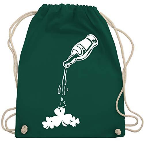 St. Patricks Day - Bier und Kleeblatt - St. Patricks Day - Unisize - Dunkelgrün - WM110 - Turnbeutel & Gym Bag