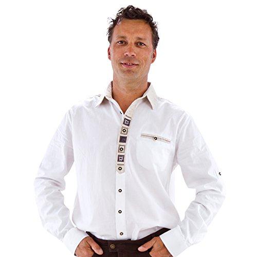 Preisvergleich Produktbild NEU Herren Qualitäts-Trachtenhemd, weiß, Gr. XXXL