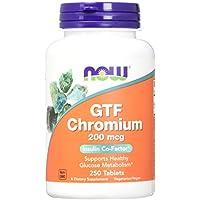 Gtf chromium 200 mcg - 250 comprimés - Now foods