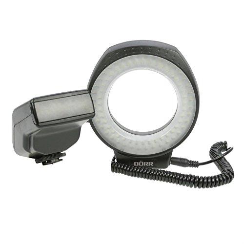 Dörr Ultra 80 LED-Ringlicht mit zuschaltbarem Blitz inkl. Anschlussringe schwarz