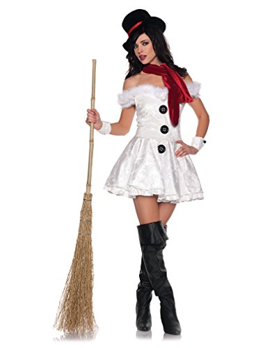 Heiße Schneefrau Premium Kostüm Gr. S