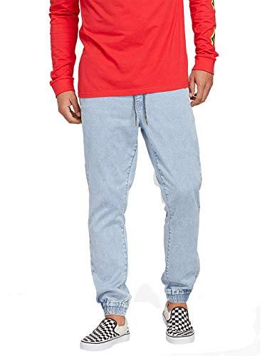 Bein Traditionellen Fit-jeans (Volcom Herren Denim Jogger-Pants, Blue, M)