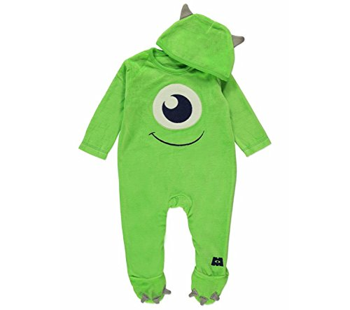 disney-pixar-monsters-inc-mike-wazowski-onesie-sleepsuit-6-9-months-with-hat-made-by-disney-baby-for