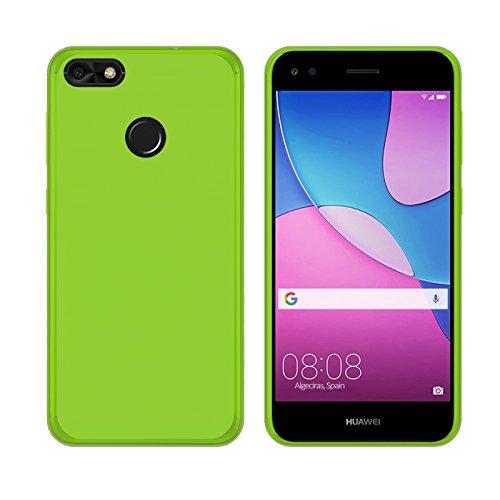 TBOC® Grün Gel TPU Hülle für Huawei Y6 Pro (2017) - Huawei P9 Lite Mini (5.0 Zoll) Ultradünn Flexibel Silikonhülle