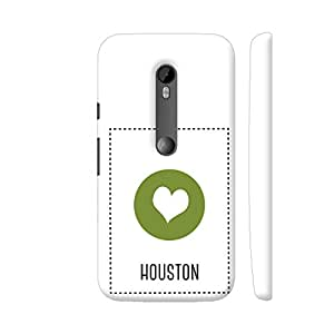 Colorpur Moto G Turbo Cover - I Love Houston Case