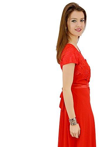 Robe Habillée Dentelle Rouge Rouge