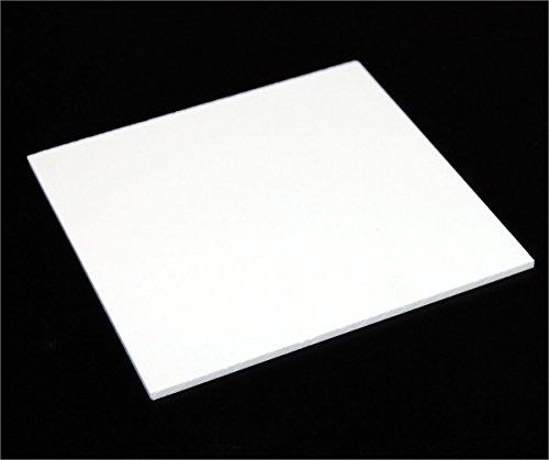 "Acrylic Sheet / Plexi Glass White 12"" x 12"" x 2mm"