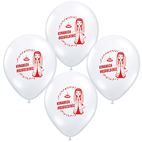 Preisvergleich Produktbild Kina gecesi Henna Abend Kina süs Kina dekorasyon Bayrak Luftballons Fahnenkette Wimpelkette dügün dekorasyon