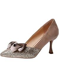 internet_mujer Tacones de aguja puntiagudos, zapatos bajos de corte bajo, Zapatos De Tacón con