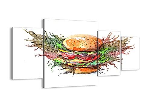 Bild auf Leinwand - Leinwandbilder - vier Teile - Breite: 160cm, Höhe: 90cm - Bildnummer 2981 - vierteilig - mehrteilig - zum Aufhängen bereit - Bilder - Kunstdruck - DL160x90-2981