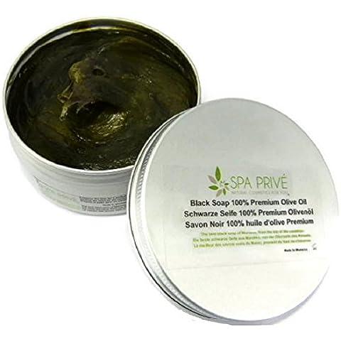 Sapone nero esfoliante con olio essenziale di eucalipto 200 g