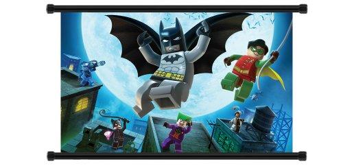 Lego Batman Game Fabric Wall Scroll Poster (32x20) Inches (Super Mario Galaxy Lego)