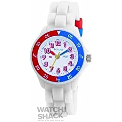 TK0001 Childrens Tikkers White Strap Watch