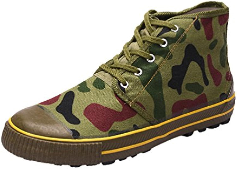 Dooxi Hombre Ocasionales Lona Zapatos Al Aire Libre Antideslizante Formación Zapatillas Militar Desert Botas de...