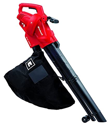 Einhell Aspirateur-Souffleur électrique GC-EL 2500 E (2500 W, Régime 7.000 à 13.500 trs/min, Puissance d'aspiration 650 m³/h, Sac de ramassage 40 l, 2 roulettes de guidage, Sangle de portée réglable) - Strumenti di giardinaggio