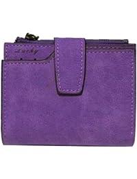 F9Q Femmes Vintage Matte Wallet Zipper PU cuir petit sac à main Moraillon court Wallet