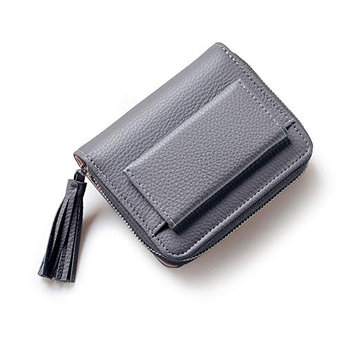 QLOH Brieftasche 2019 Short Tassel Women's Wallets Multifunction Mini Purse Card Coin Purse Pu Leather Hasp & Zipper Fresh Cute Bag Photo Bit - Designer-drop-bag