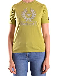 Belstaff Mujer MCBI039016O Verde Algodon T-Shirt