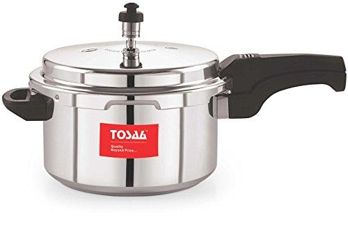 Tosaa Ultra Delux Aluminium Pressure Cooker, 5 Litres, Silver