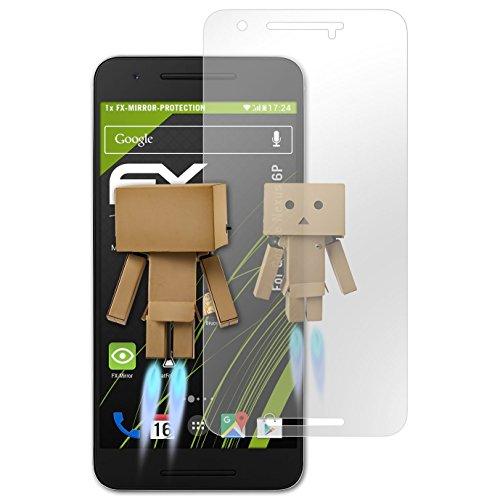 atFolix Displayfolie kompatibel mit Google Nexus 6P Spiegelfolie, Spiegeleffekt FX Schutzfolie