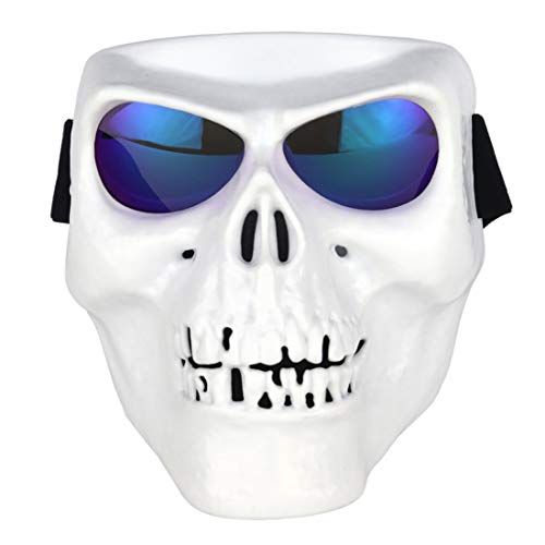 AMITAS Maske für das ganze Gesicht, Airsoft-Maske, Gesichtsmaske, Schutzmaske, ideal für Paintball / Halloween-Kostüm / GEH (Klar Gesichtsmaske Kostüm)