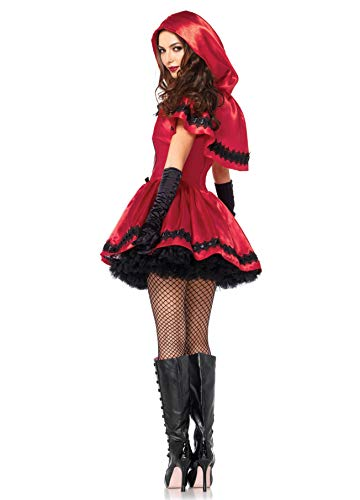 Fortuning s JDS Women Halloween Little Red Riding Hood Cloak Dress Gloves Stockings Cosplay Costume  4Pcs