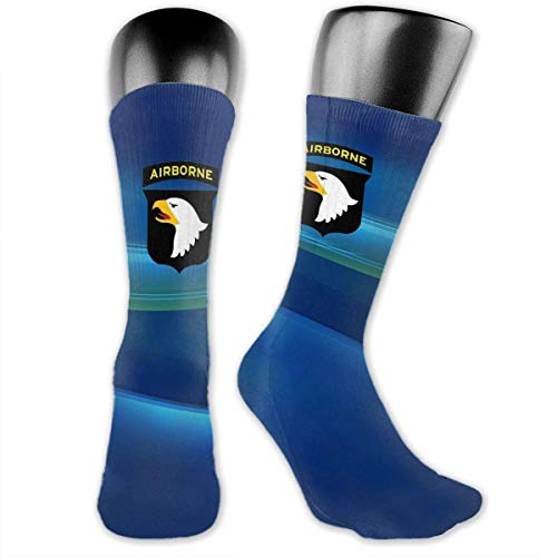 Xdevrbk Army 101st Airborne Division Fashion Over The Calf Socks for Men & Women