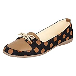 Authentic Vogue Womens Pulka Dot Tan Color Loafer 37 EU