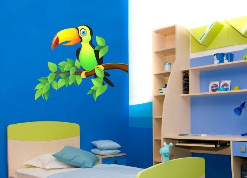 VinMea Toucan on Tree Branch Tropical Theme Wall Decal - 18