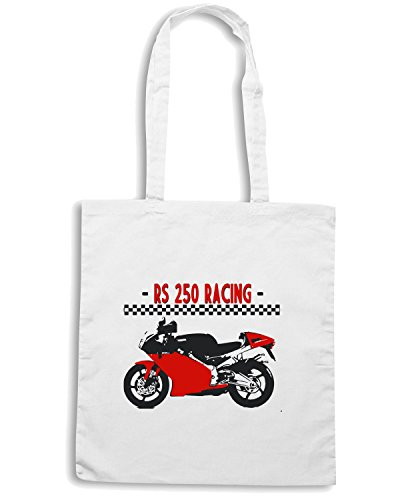 T-Shirtshock - Borsa Shopping TB0291 ITALIAN MOTORCYCLE RS RACING Bianco